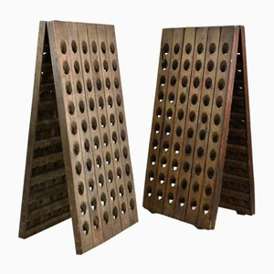 Vintage French Wine and Champagne Riddling Rack
