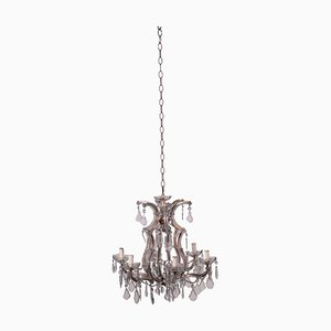 Glass Chandelier in the Style of Maria Theresa, Italy, 20th Century
