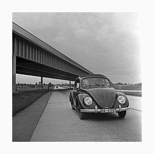 Volkswagen Beetle on Highway, Germany 1937, Printed 2021