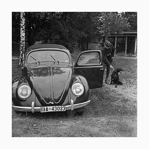 Chasseur avec Chien et Coccinelle Volkswagen, Allemagne 1939, Imprimé en 2021
