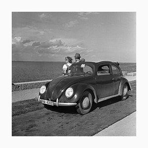 Travelling to the Seaside in the Volkswagen Beetle, Germany, 1937, Printed 2021