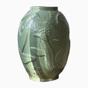Grüne Vase von Anna-Lisa Thomson für Upsala-Ekeby, 1940er