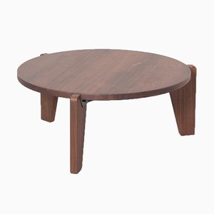 Guéridon Bas Table in Walnut by Jean Prouvé for Vitra