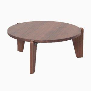 Table Basse Guéridon en Noyer par Jean Prouvé pour Vitra