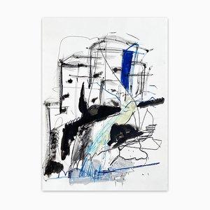 Nordische Wellen, abstrakte Malerei, 2021