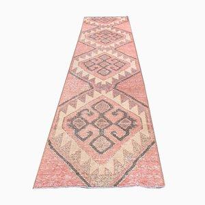 Vintage Turkish Handmade Oushak Runner Rug in Wool