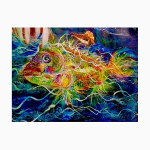 Sonnenfisch, französische Contemporary Artwork von Nicole Benjamin, 2021