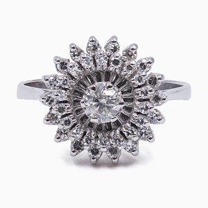Bague Vintage en Or 18K avec Diamants, 1960s