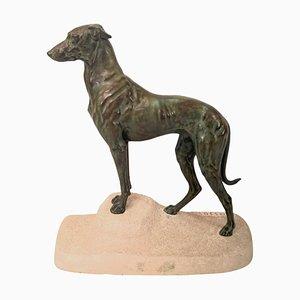 Max Le Verrier für Masson, Sloughi, Art Deco Greyhound Skulptur