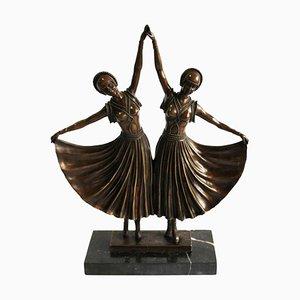 Danseurs Style Art Déco en Bronze, 20ème Siècle