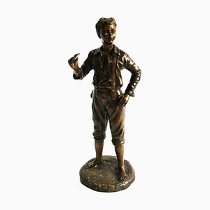 20th Century French Bronze Figure of a Boy