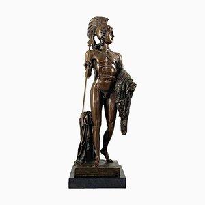 Figure en Bronze d'un Guerrier Grec Classique, 20ème Siècle