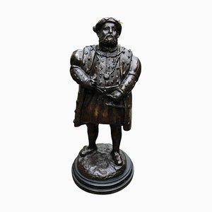 Statue en Bronze du Roi Henry VIII, Angleterre, 20ème Siècle