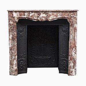 18th Century Parisian Louis XV Marble Fireplace