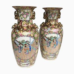 Large China Vases, 20th Century, Set of 2