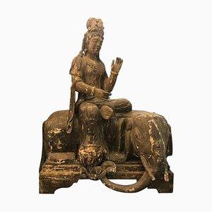 Icona grande di Indra . in legno, inizio XIX secolo