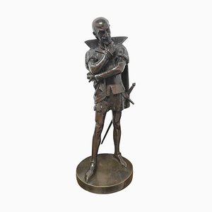 18. Jahrhundert Bronzestatue eines Shakespeare-Charakters