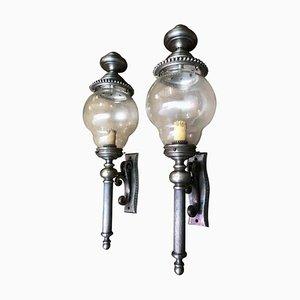 Lanternes en Plaqué Nickel, France, 20ème Siècle, Set de 2