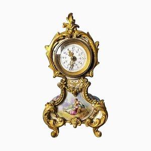 Horloge de Table ou de Cheminée de Meissen, 19ème Siècle