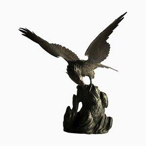 Japanischer Meiji Adler aus Bronze, 19. Jh