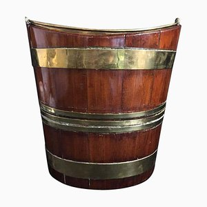 Weinkühler aus Mahagoni & Messing, 18. Jh
