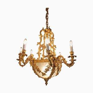 Vergoldeter Bronze Kronleuchter im Louis XVI Stil, 20. Jh