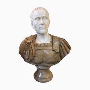 Buste Romain en Marbre, 20ème Siècle