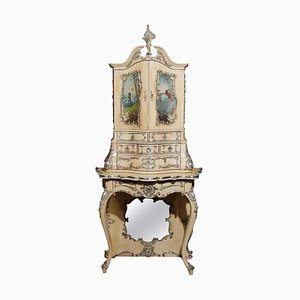 Handbemalter italienischer Florentiner Schrank, 19. Jh