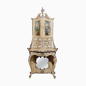 Mobiletto fiorentino dipinto a mano, Italia, XIX secolo
