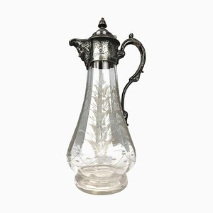 Brocca Art Nouveau placcata in argento, inizio XX secolo