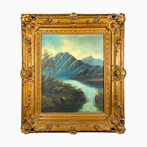 Ölgemälde des Pearl River, 1890er