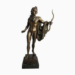 20. Jahrhundert Bronzestatue von Apollo, griechischer Gott des Bogenschießens
