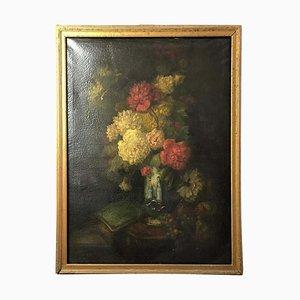 Bouquet d' Carillets et Nature Morte de Fruits, 19ème Siècle