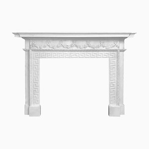 18th Century Hand Carved Palladium Fireplace in White