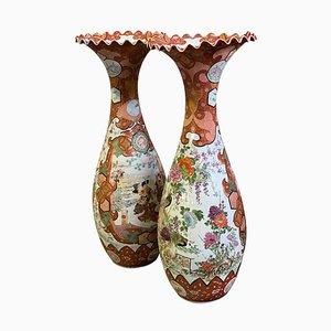 Vases Kutani, Japon, 19ème Siècle, Set de 2