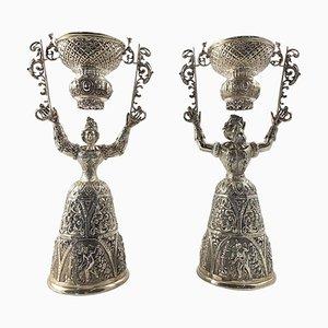Bicchieri in argento, XIX secolo, set di 2