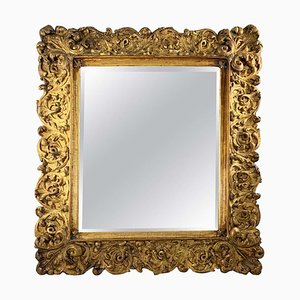 Large 19th Century Carved Giltwood Mirror