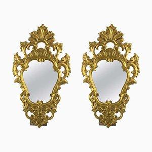 Vergoldete französische Spiegel, 19. Jh., 2er Set