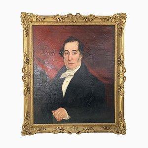 19th Century, Oil on Canvas, Portrait of an English Gentleman