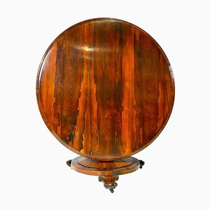 English Regency Round Rosewood Dining Table, 1830s