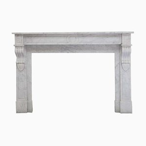 19th Century Louis Philippe Carrara Marble Fireplace Mantel
