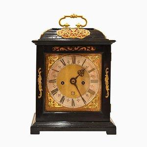 Charles II Ebony Bracket Clock by Joseph Knibb of London, 1670s or 1680s