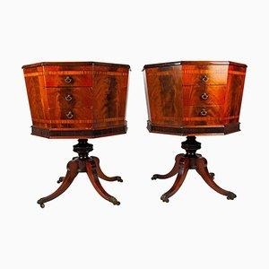 Tables d'Appoint ou Commodes à Couture Regency Hexagonales, Angleterre, 19ème Siècle, Set de 2