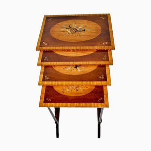 20th Century Sheraton Style Nesting Table Set in Mahogany