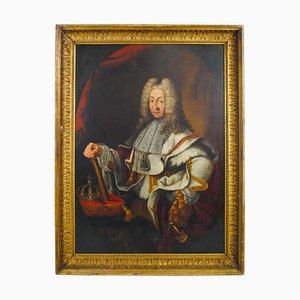 Großes Ölporträt von Victor-Amédée König von Sardinien
