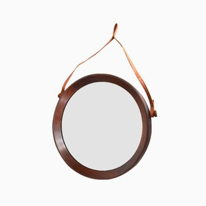 Teak Mirror by Uno & Östen Kristiansson for Luxus Vittsjö, 1960s