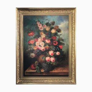 Bouquet d' Carillets et de Fruits, Nature Morte, 20ème Siècle