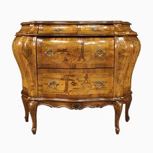 Venezianische Kommode aus Holz mit Intarsien, 20. Jh