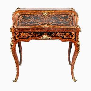 Bureau Style Louis XV en Marqueterie, 19ème Siècle