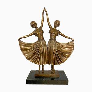 Art Déco Ballerinen aus Bronze, 20. Jh